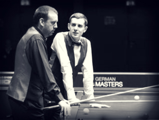 Mark Williams with ermm, Mark Selby.