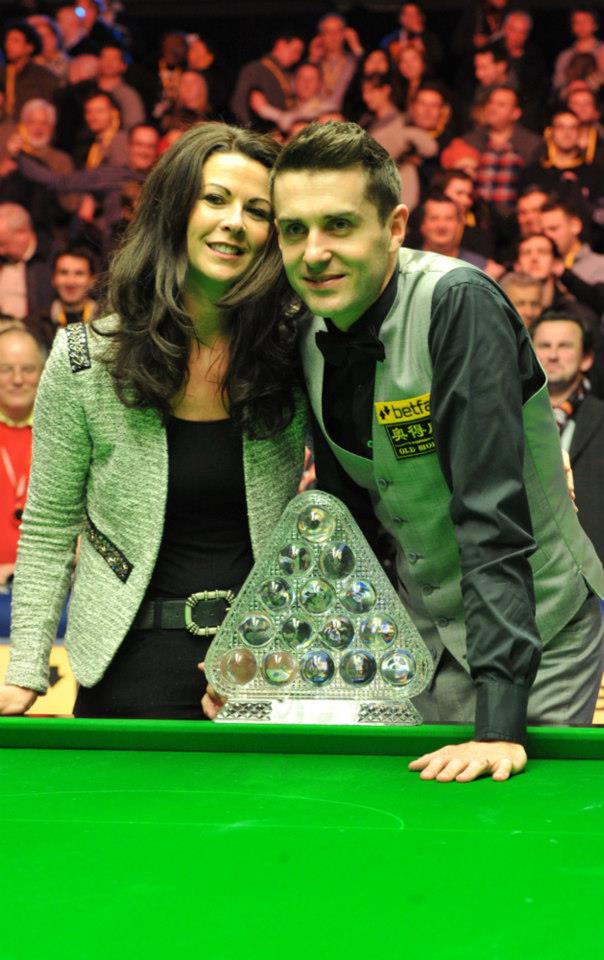 Selby after his win last night with his judy.