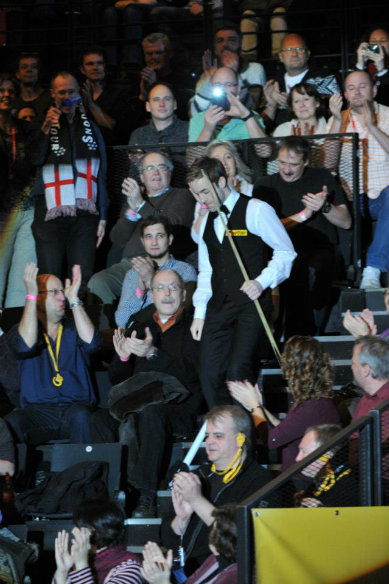 Better than Barnsley: Ali coming down the stairs for the final session of last season's German Open in Berlin.