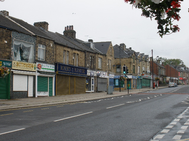 A nice view of some closed down shops in Barnsley