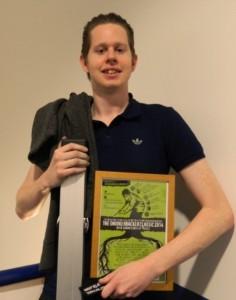 John Parkin with Prize